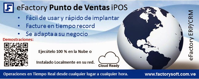 software de punto de ventas web en la nube eFactory iPOS