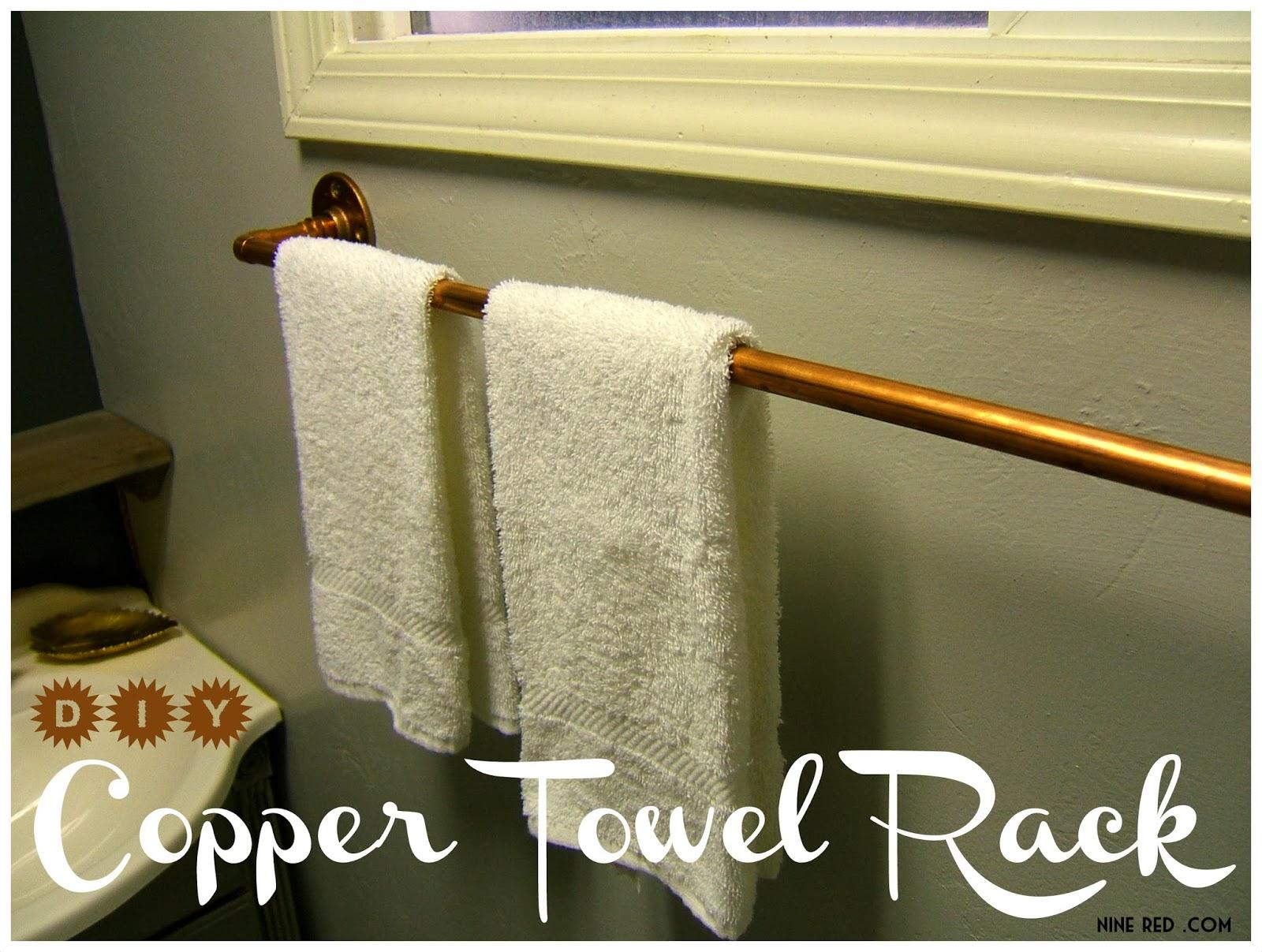 Nine Red Diy Copper Towel Rack