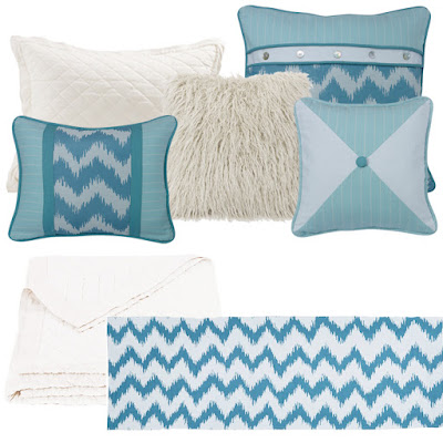 white diamond pattern linen quilt, Catalina bedding pillows, Mongolian Fur Pillow in White
