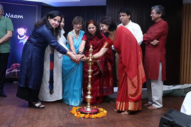Lamp Lighting by Aleena Itrat, suparna trikha, Dr. Mridula Tandon, Mamta Kiran, Manisha Anmol, Zeeshan Niyazi, Laxmi Shankar Bajpayi