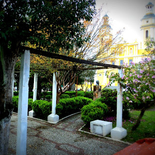 Praça Dr Rubens Rosa Guedes e Igreja Matriz de Caçapava do Sul
