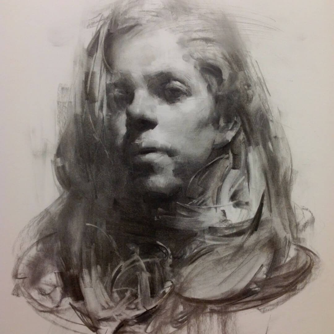 07-Emily-Life-Drawing-Zhaoming-Wu-Black-and-White-Charcoal-Portraits-www-designstack-co