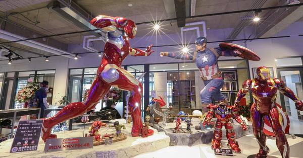 台中北屯|歐雅英雄主題館|超過20座1:1英雄雕像|旋轉溜滑梯|彩色球池|歐雅系統家具展示區