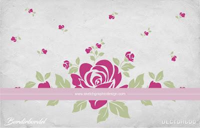 Motif gambar bunga vector terbaru untuk motif Bordir, gratis download file CDR