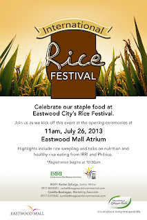 Eastwood City's Rice Festival