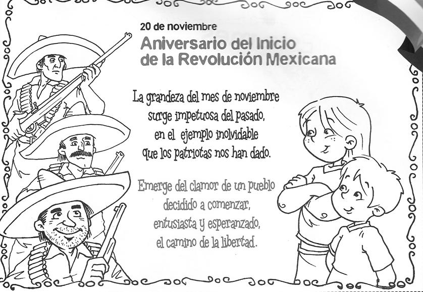 Imágenes para colorear - Revolución Mexicana