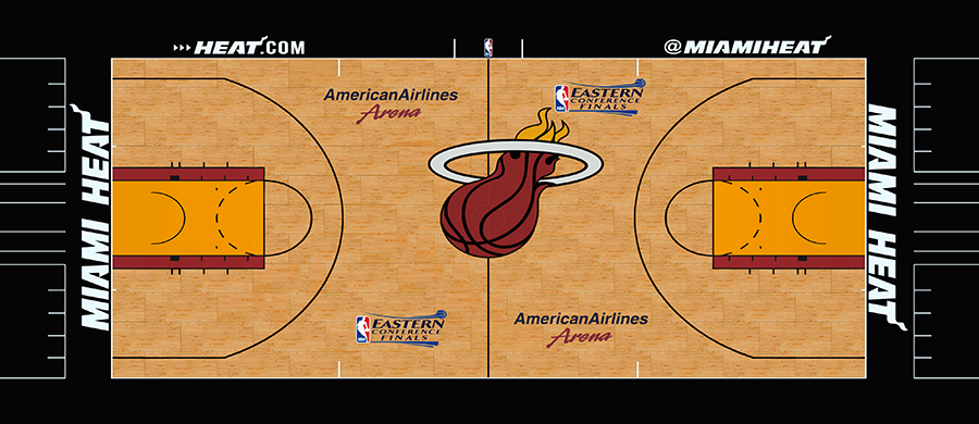 NBA 2K14 Miami Heat Court ECF Court Mod