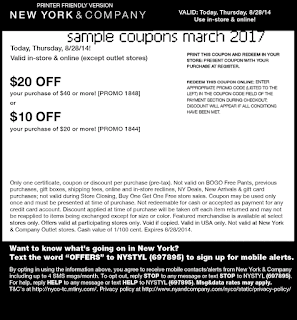 New York And Company coupons march 2017
