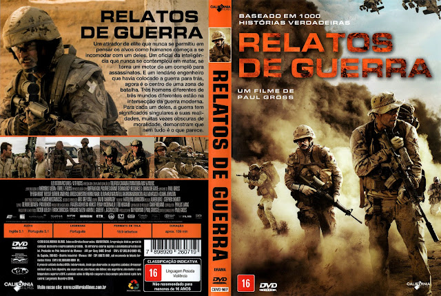 Capa DVD Relatos de Guerra
