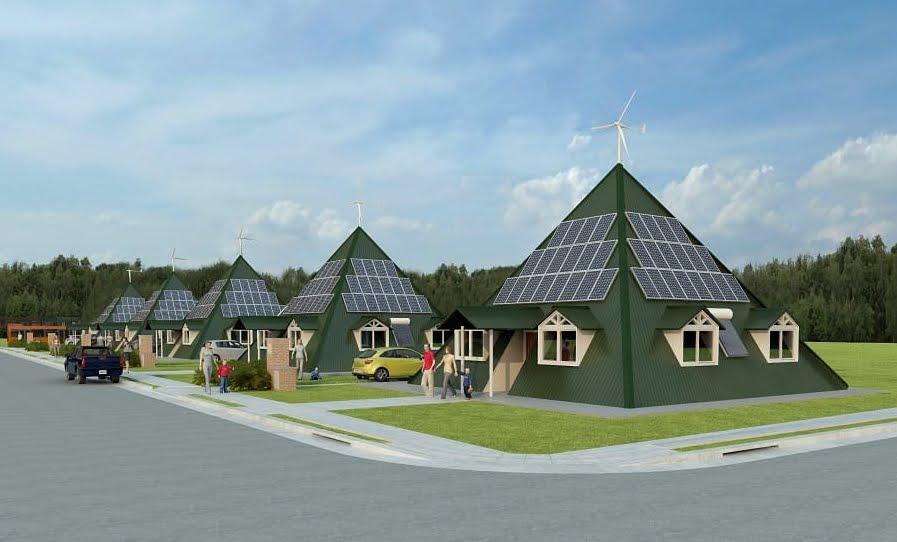 La Casa del Futuro: piramidale, antisismica, efficiente e autosufficiente grazie alle energie rinnovabili.