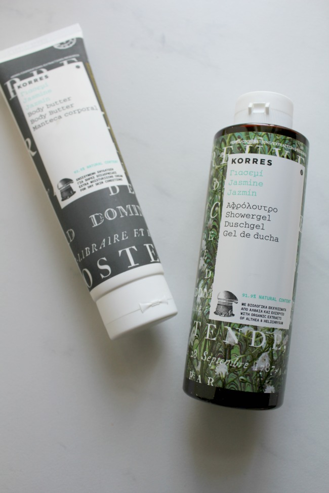 Trying out a sensual scent: Korres Jasmine range review. Nourish ME: www.nourishmeblog.co.uk