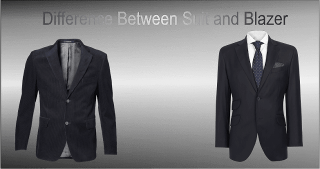difference between blazer and suit