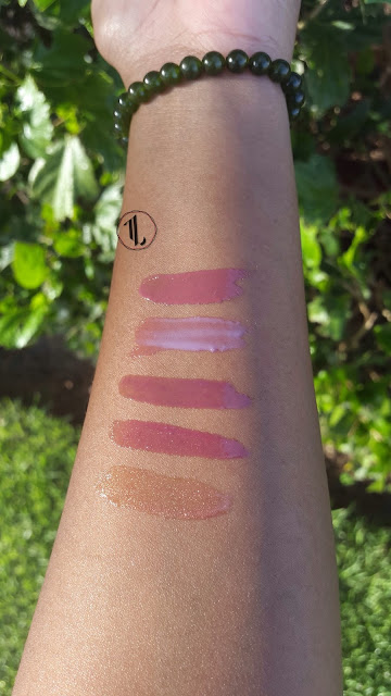 'Mirrored Mauve', 'Raspberry Reflections', 'Berry Tempting', 'Mauve Fetish' and 'Luminous' swatches www.modenmakeup.com