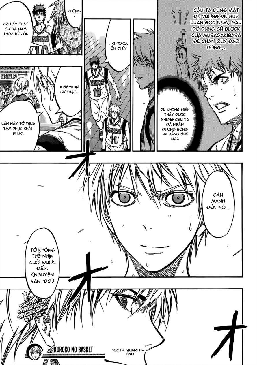 Kuroko No Basket chap 185 trang 18