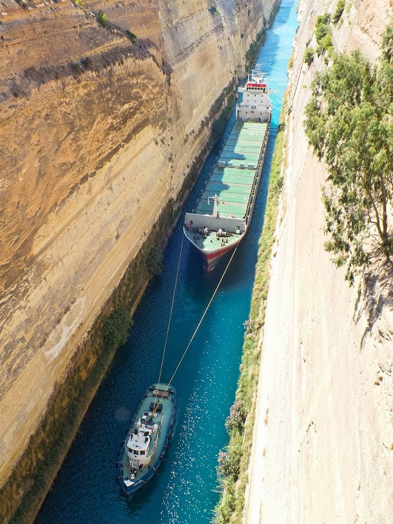 Corinth Canal in Greece | The Narrow shipping Channel in the World