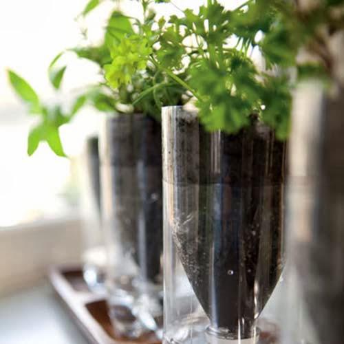 kerajinan tangan pot bunga dari limbah botol plastik