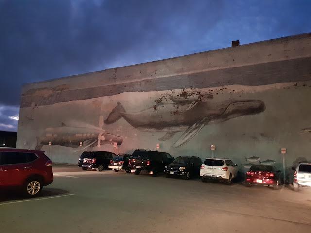 Murales di una balena a Porthsmouth
