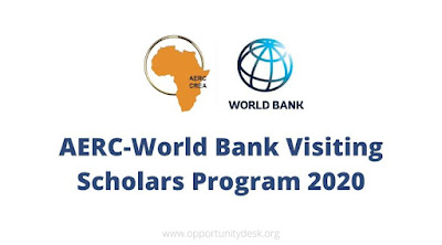 See The AERC-World Bank Visiting Scholars Programme 2020