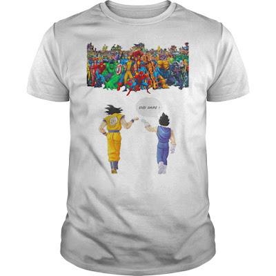 Avengers great war Son Goku and Vegeta endgame T Shirts Hoodie Sweatshirt