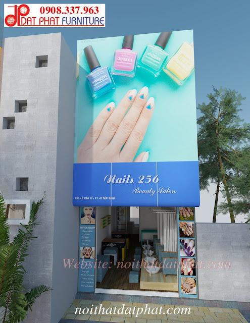 thiết kế nội thất tiệm Nail diện tích nhỏ, thiết kế tiệm nail, thiết kế tiệm nail diện tích nhỏ, tư vấn thiết kế tiệm nail, mẫu thiết kế nội thất tiệm Nail,
