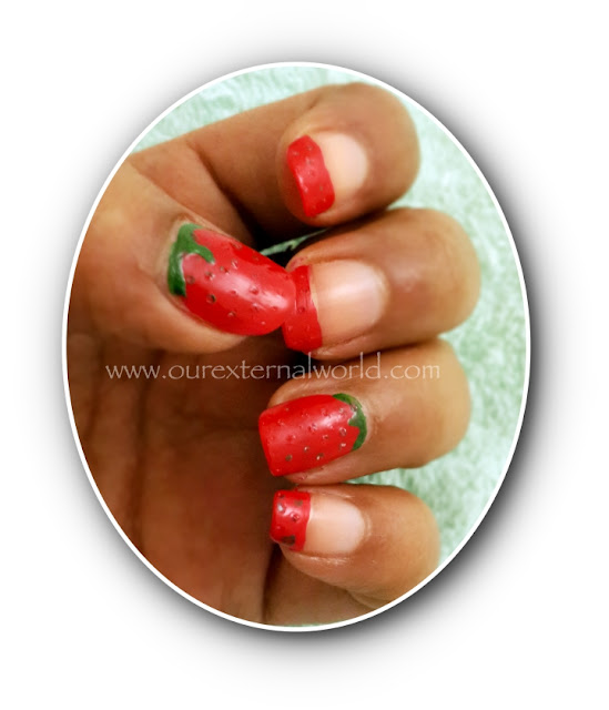 HPB Presents Strawberry Nail Art
