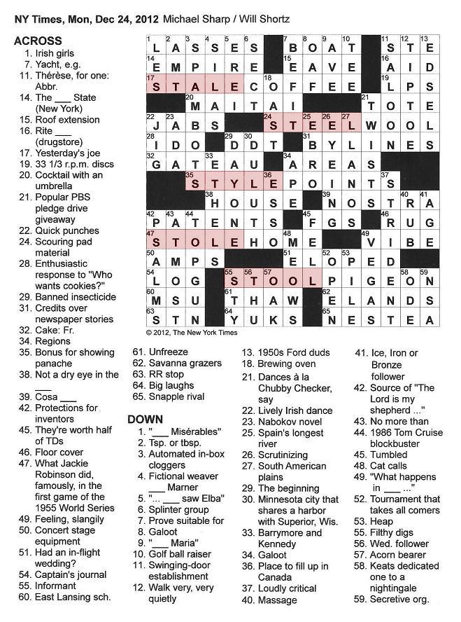 Loud Laugh Crossword Puzzle Clue