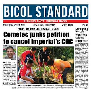 PAMPLONA, CSUR MAYORALTY RACE | Comelec junks petition to