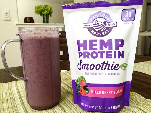 Manitoba Harvest Hemp Protein Smoothie Review Mixed Berry