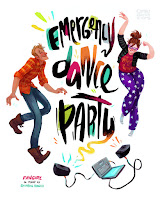 Levi and Cath from Rainbow Rowell's FANGIRL having an emergency dance party - poster  by Simini Blocker