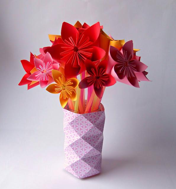 tuto fleur origami