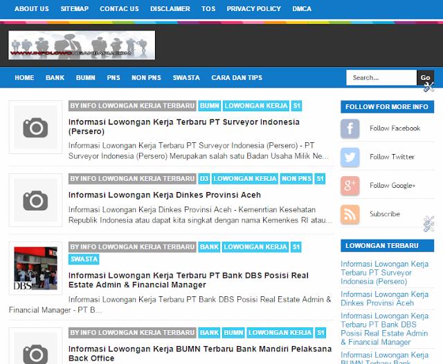 Informasi lowongan Kerja Terbaru Hanya Di www.Infolowonganbaru.com