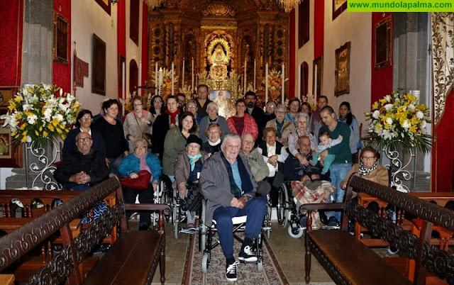 Los mayores de Villa de Mazo visitan el Santuario de La Virgen de Las Nieves