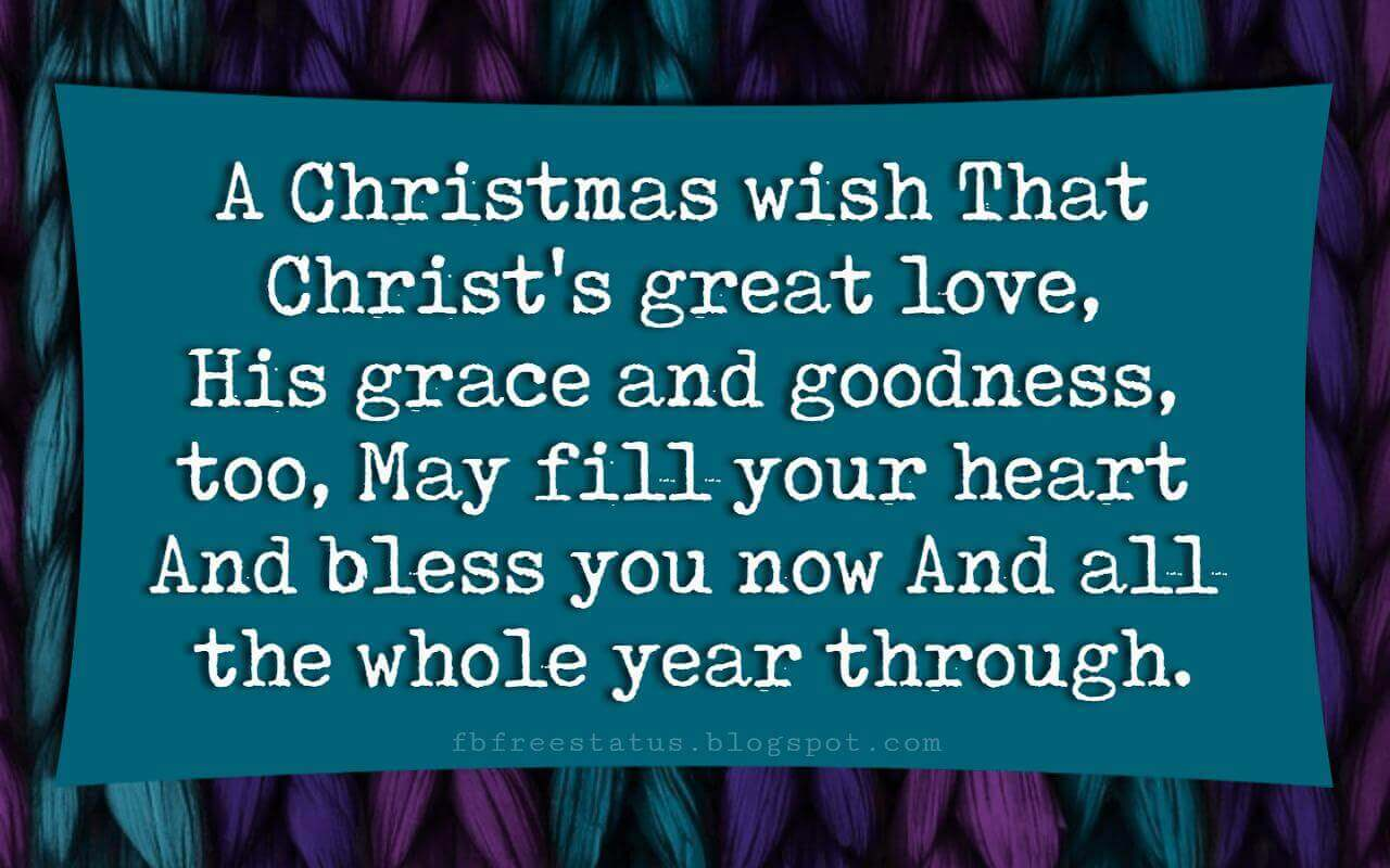 Religious Christmas Card Sayings