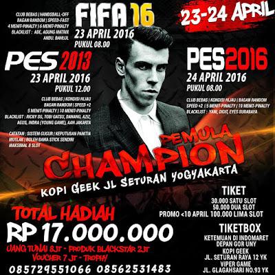 Kompetisi PES 2016 di Yogyakarta April 2016