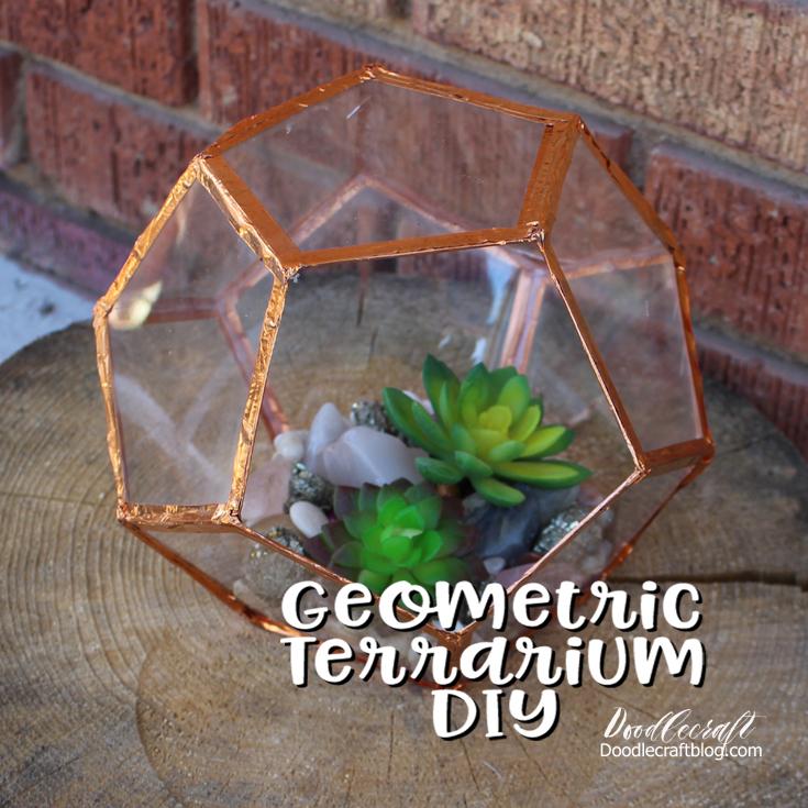 Doodlecraft Geometric Succulent Terrarium Diy
