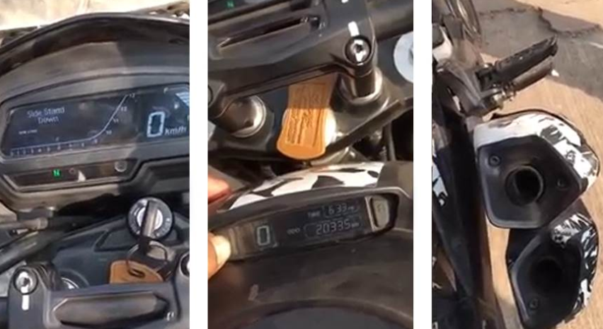 2019 Bajaj Dominar 400 ABS spied video captured