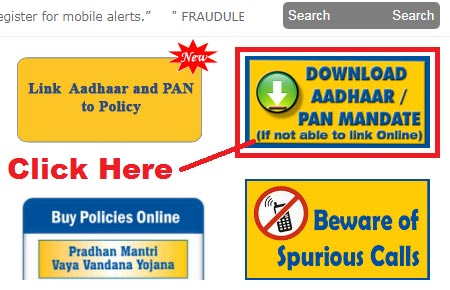 link lic policy with aadhaar card and pan card