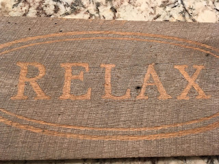 Barnwood Sign - Relax