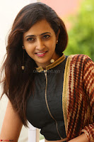 Lasya looks super cute in black choli Saree at Raja Meru Keka Press Meet ~  Exclusive 063.JPG