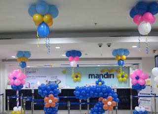 Dekorasi Balon Bank Mandiri