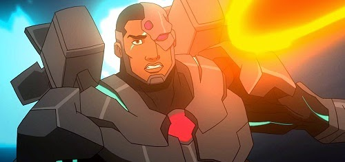 Black Superhero Cyborg Victor Stone Justice League War DC Universe Animated Original Movie 2014