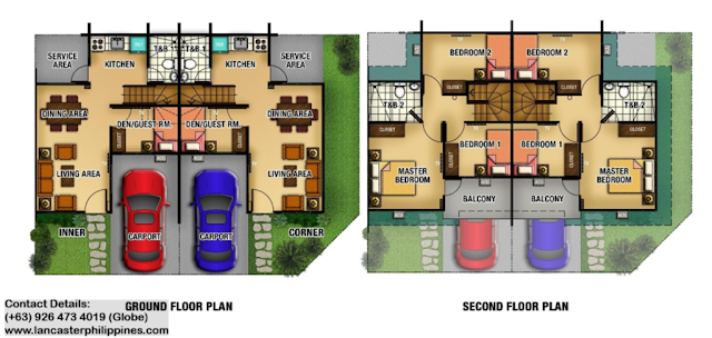 Floor Plan of Adelle - Lancaster New City Cavite | House and Lot for Sale Imus-General Trias Cavite