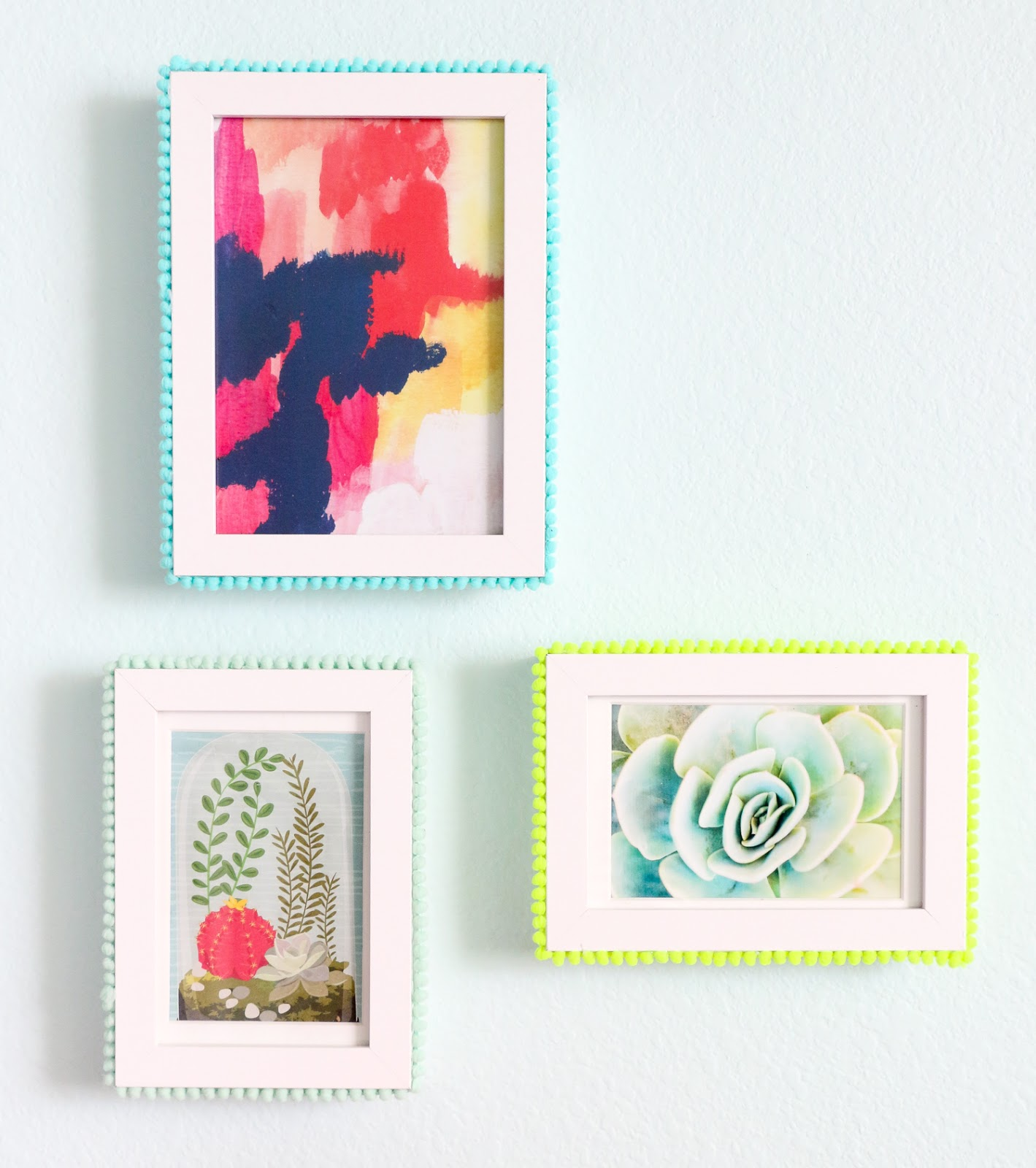Craft It - Pom Pom Picture Frames - A Kailo Chic Life