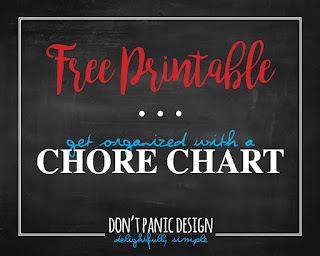 Don't Panic Design Free Printable Chore Chart