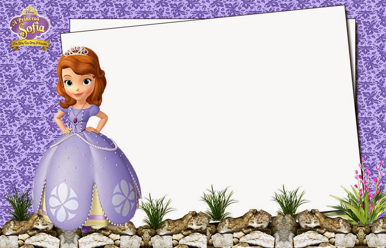 Sofia the first free printable invitations or photo frames oh my princess sofia the first free printable invitations labels or cards filmwisefo