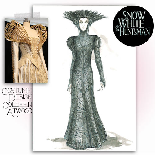 Fabulous Doodles Fashion Illustration Blog By Brooke Hagel Colleen Atwood Costume Design Snow White The Huntsman