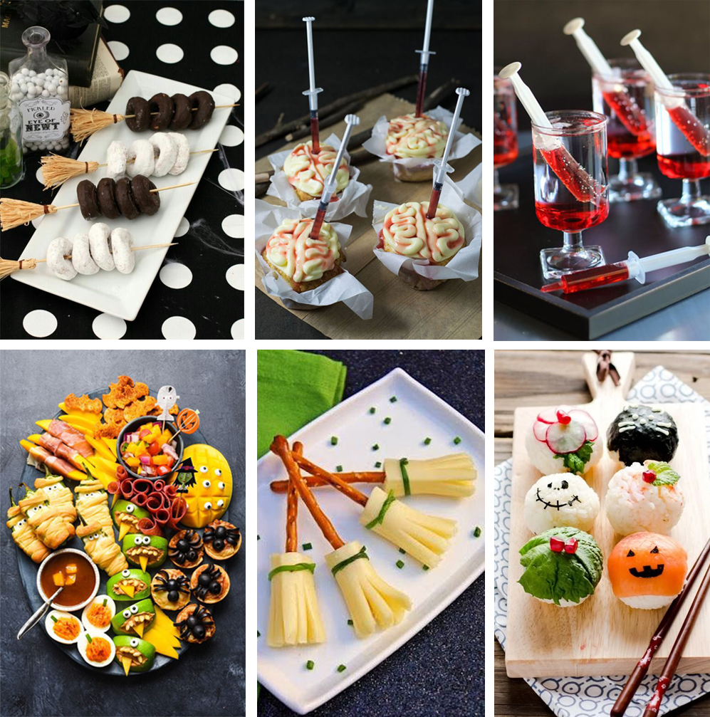 como decorar mesa de halloween con recetar dulces y saladas terroríficas, fáciles y divertidas