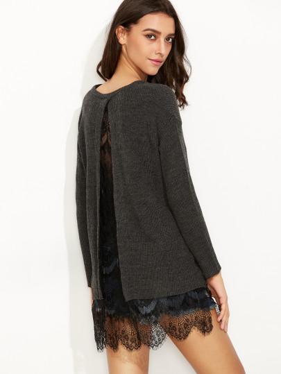 sweterek z ozdobnymi plecami