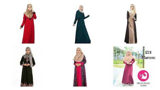 Koleksi Jubah Muslimah Moden Terkini 2017