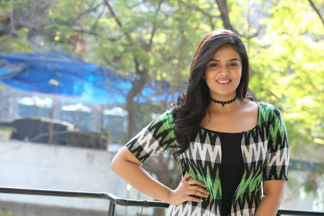 Srimukhi Stills At Good Bad Ugly Movie Release Press Meet